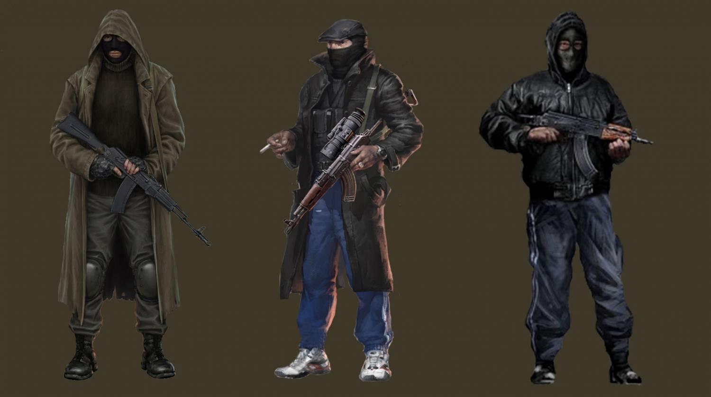 Рисунки бандитов из сталкера